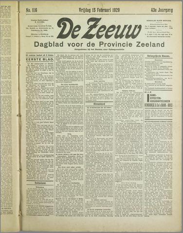 De Zeeuw. Christelijk-historisch nieuwsblad voor Zeeland 1929-02-15