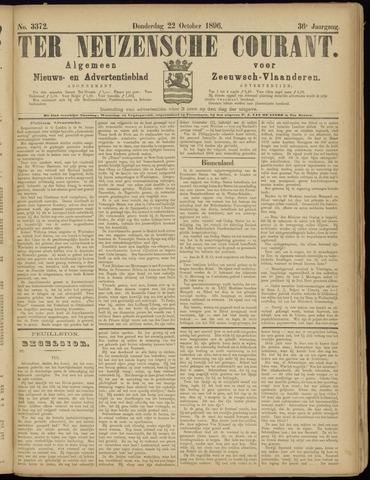 Ter Neuzensche Courant. Algemeen Nieuws- en Advertentieblad voor Zeeuwsch-Vlaanderen / Neuzensche Courant ... (idem) / (Algemeen) nieuws en advertentieblad voor Zeeuwsch-Vlaanderen 1896-10-22