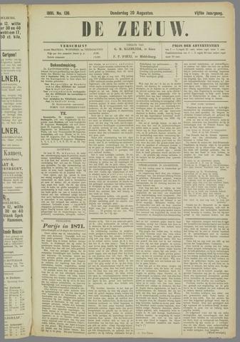 De Zeeuw. Christelijk-historisch nieuwsblad voor Zeeland 1891-08-20