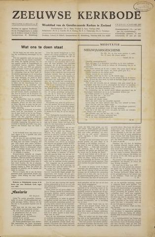 Zeeuwsche kerkbode, weekblad gewijd aan de belangen der gereformeerde kerken/ Zeeuwsch kerkblad 1957-01-04