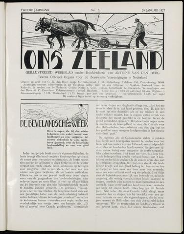 Ons Zeeland / Zeeuwsche editie 1927-01-29
