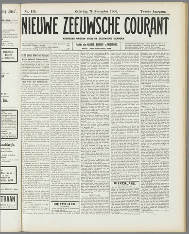 Nieuwe Zeeuwsche Courant 1906-11-24