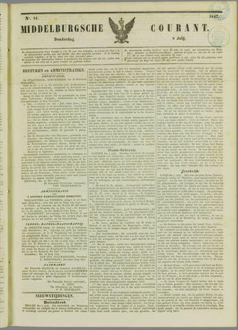 Middelburgsche Courant 1847-07-08