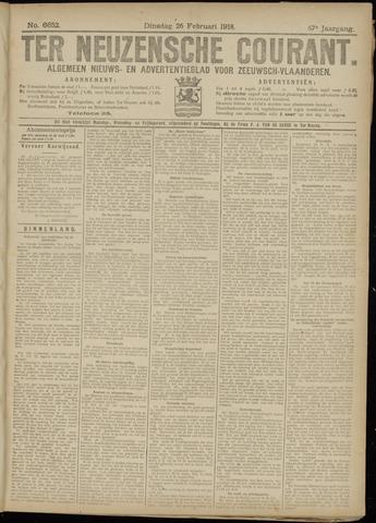 Ter Neuzensche Courant. Algemeen Nieuws- en Advertentieblad voor Zeeuwsch-Vlaanderen / Neuzensche Courant ... (idem) / (Algemeen) nieuws en advertentieblad voor Zeeuwsch-Vlaanderen 1918-02-26