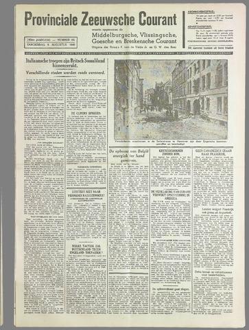 Provinciale Zeeuwse Courant 1940-08-08