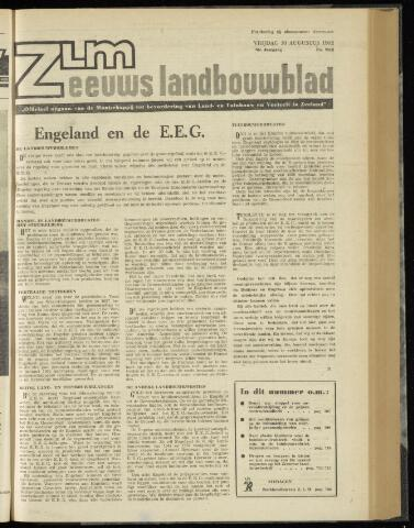 Zeeuwsch landbouwblad ... ZLM land- en tuinbouwblad 1962-08-10