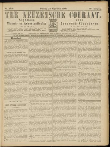 Ter Neuzensche Courant. Algemeen Nieuws- en Advertentieblad voor Zeeuwsch-Vlaanderen / Neuzensche Courant ... (idem) / (Algemeen) nieuws en advertentieblad voor Zeeuwsch-Vlaanderen 1906-09-25