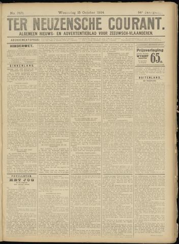 Ter Neuzensche Courant. Algemeen Nieuws- en Advertentieblad voor Zeeuwsch-Vlaanderen / Neuzensche Courant ... (idem) / (Algemeen) nieuws en advertentieblad voor Zeeuwsch-Vlaanderen 1924-10-15