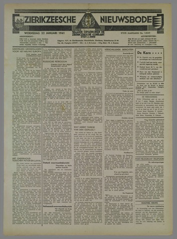 Zierikzeesche Nieuwsbode 1941-01-22