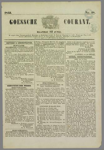 Goessche Courant 1852-06-14