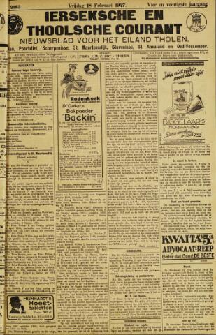 Ierseksche en Thoolsche Courant 1927-02-18