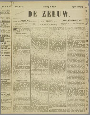 De Zeeuw. Christelijk-historisch nieuwsblad voor Zeeland 1891-03-14