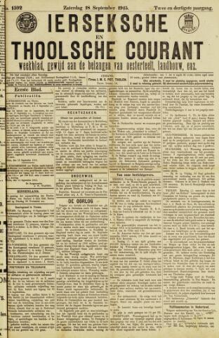 Ierseksche en Thoolsche Courant 1915-09-18
