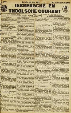 Ierseksche en Thoolsche Courant 1919-06-28