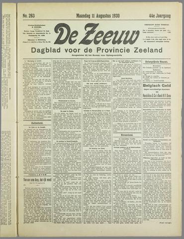 De Zeeuw. Christelijk-historisch nieuwsblad voor Zeeland 1930-08-11