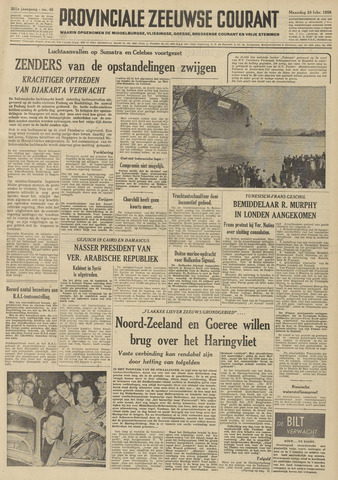 Provinciale Zeeuwse Courant 1958-02-24
