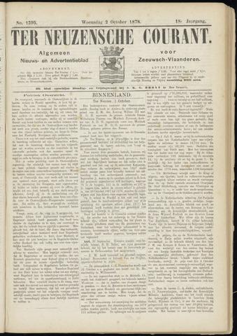 Ter Neuzensche Courant. Algemeen Nieuws- en Advertentieblad voor Zeeuwsch-Vlaanderen / Neuzensche Courant ... (idem) / (Algemeen) nieuws en advertentieblad voor Zeeuwsch-Vlaanderen 1878-10-02