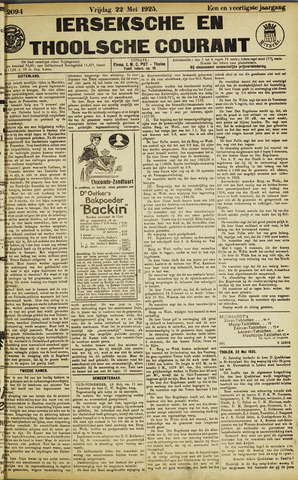 Ierseksche en Thoolsche Courant 1925-05-22