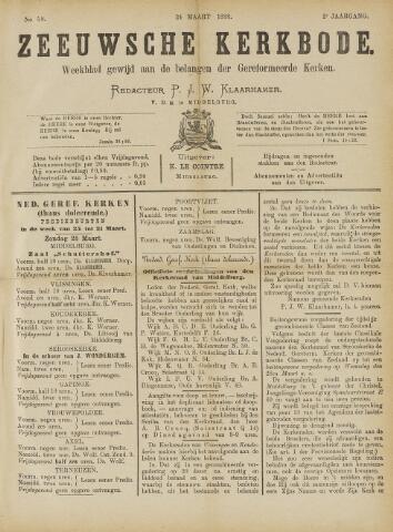 Zeeuwsche kerkbode, weekblad gewijd aan de belangen der gereformeerde kerken/ Zeeuwsch kerkblad 1888-03-24