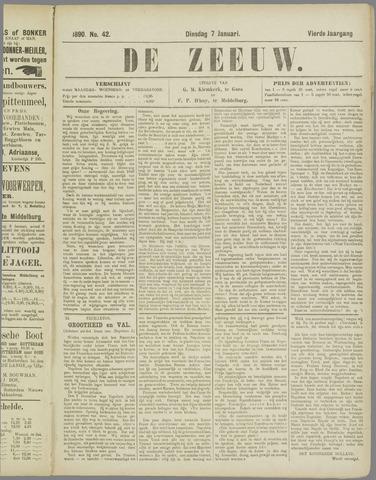 De Zeeuw. Christelijk-historisch nieuwsblad voor Zeeland 1890-01-07
