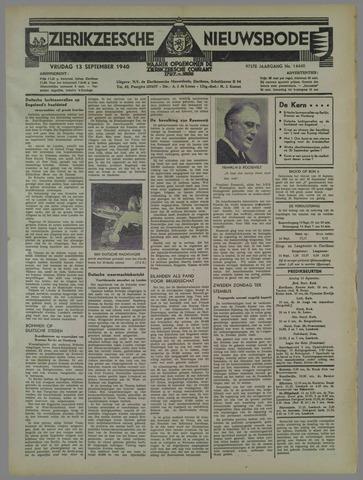 Zierikzeesche Nieuwsbode 1940-09-13