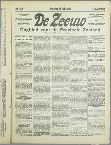 De Zeeuw. Christelijk-historisch nieuwsblad voor Zeeland 1930-07-14
