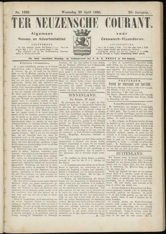 Ter Neuzensche Courant. Algemeen Nieuws- en Advertentieblad voor Zeeuwsch-Vlaanderen / Neuzensche Courant ... (idem) / (Algemeen) nieuws en advertentieblad voor Zeeuwsch-Vlaanderen 1880-04-28