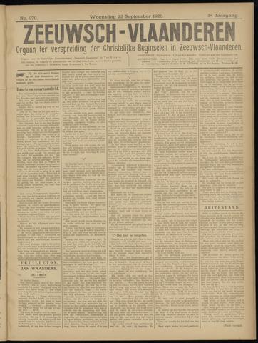 Luctor et Emergo. Antirevolutionair nieuws- en advertentieblad voor Zeeland / Zeeuwsch-Vlaanderen. Orgaan ter verspreiding van de christelijke beginselen in Zeeuwsch-Vlaanderen 1920-09-22