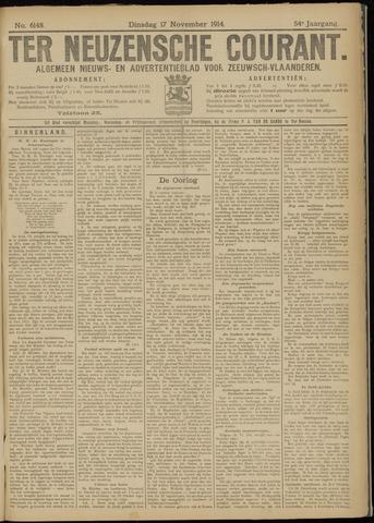 Ter Neuzensche Courant. Algemeen Nieuws- en Advertentieblad voor Zeeuwsch-Vlaanderen / Neuzensche Courant ... (idem) / (Algemeen) nieuws en advertentieblad voor Zeeuwsch-Vlaanderen 1914-11-17