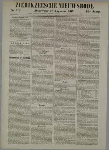 Zierikzeesche Nieuwsbode 1885-08-27