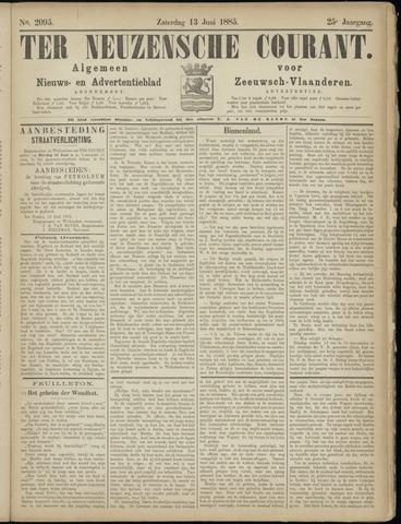 Ter Neuzensche Courant. Algemeen Nieuws- en Advertentieblad voor Zeeuwsch-Vlaanderen / Neuzensche Courant ... (idem) / (Algemeen) nieuws en advertentieblad voor Zeeuwsch-Vlaanderen 1885-06-13