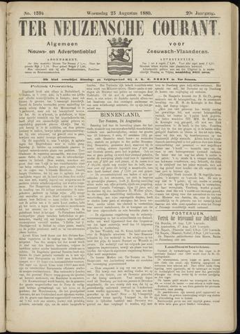 Ter Neuzensche Courant. Algemeen Nieuws- en Advertentieblad voor Zeeuwsch-Vlaanderen / Neuzensche Courant ... (idem) / (Algemeen) nieuws en advertentieblad voor Zeeuwsch-Vlaanderen 1880-08-25