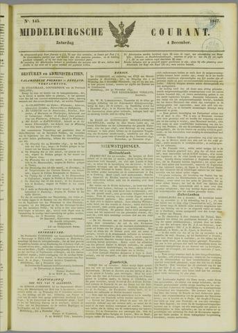 Middelburgsche Courant 1847-12-04