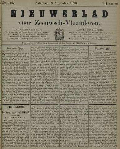 Nieuwsblad voor Zeeuwsch-Vlaanderen 1893-11-18