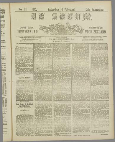 De Zeeuw. Christelijk-historisch nieuwsblad voor Zeeland 1912-02-10