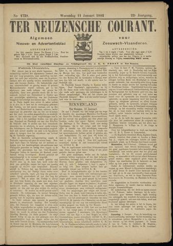 Ter Neuzensche Courant. Algemeen Nieuws- en Advertentieblad voor Zeeuwsch-Vlaanderen / Neuzensche Courant ... (idem) / (Algemeen) nieuws en advertentieblad voor Zeeuwsch-Vlaanderen 1882-01-11