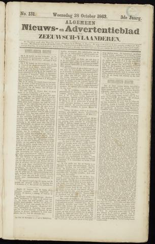 Ter Neuzensche Courant. Algemeen Nieuws- en Advertentieblad voor Zeeuwsch-Vlaanderen / Neuzensche Courant ... (idem) / (Algemeen) nieuws en advertentieblad voor Zeeuwsch-Vlaanderen 1863-10-28
