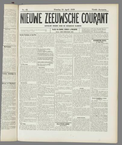 Nieuwe Zeeuwsche Courant 1908-04-14