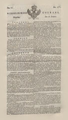 Middelburgsche Courant 1762-01-26