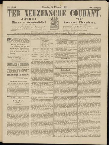 Ter Neuzensche Courant. Algemeen Nieuws- en Advertentieblad voor Zeeuwsch-Vlaanderen / Neuzensche Courant ... (idem) / (Algemeen) nieuws en advertentieblad voor Zeeuwsch-Vlaanderen 1900-02-24