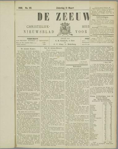 De Zeeuw. Christelijk-historisch nieuwsblad voor Zeeland 1888-03-10