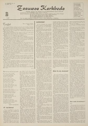 Zeeuwsche kerkbode, weekblad gewijd aan de belangen der gereformeerde kerken/ Zeeuwsch kerkblad 1969-04-24
