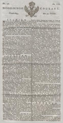 Middelburgsche Courant 1777-10-30