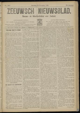 Ter Neuzensch Volksblad. Vrijzinnig nieuws- en advertentieblad voor Zeeuwsch- Vlaanderen / Zeeuwsch Nieuwsblad. Nieuws- en advertentieblad voor Zeeland 1918-11-30