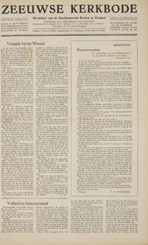 Zeeuwsche kerkbode, weekblad gewijd aan de belangen der gereformeerde kerken/ Zeeuwsch kerkblad 1959-02-27