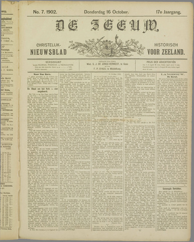 De Zeeuw. Christelijk-historisch nieuwsblad voor Zeeland 1902-10-16
