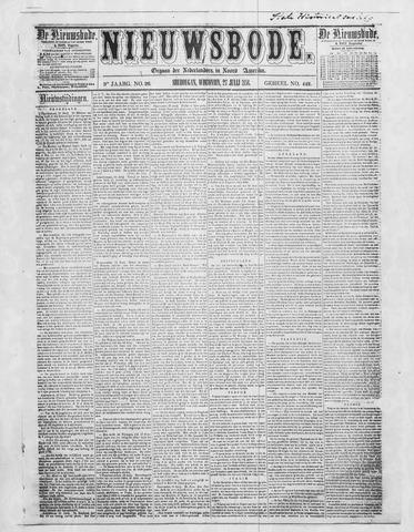 Sheboygan Nieuwsbode 1858-07-27