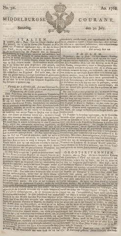 Middelburgsche Courant 1768-07-30