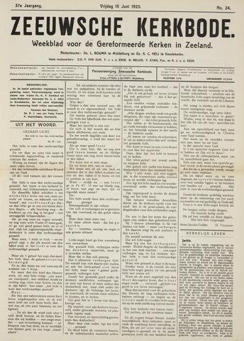Zeeuwsche kerkbode, weekblad gewijd aan de belangen der gereformeerde kerken/ Zeeuwsch kerkblad 1923-06-15