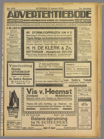 Advertentieblad. Gratis weekblad voor Goeree en Overflakkee 1930-01-11
